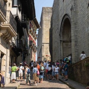La ocupación hotelera en Hondarribia ha rozado el completo durante el puente del Pilar
